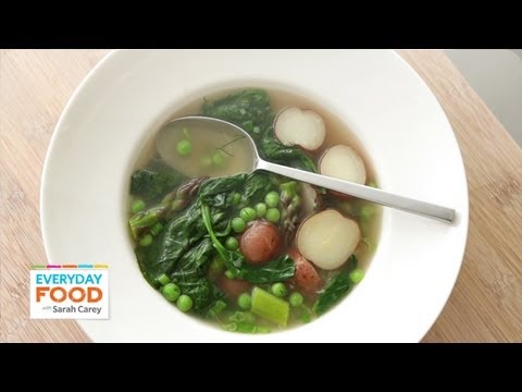 Spring Vegetable Soup - Everyday Food with Sarah Carey