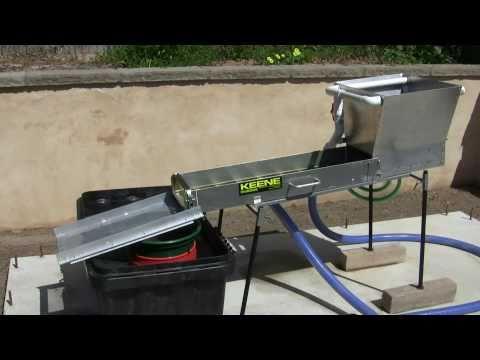 Gold mining  Sluice ...  Water Recirculating system Power Sluice
