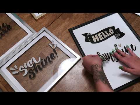 DOLLAR TREE DIY word frames under $7