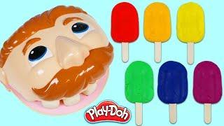 Feeding Play Doh Dr Drill N Fill Rainbow Popsicles!