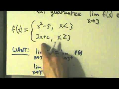 Calculus I - Limits - Finding Limits Algebraically - Piecewise Functions 2