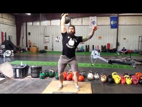 Kettlebell Jerk !  Daniels Calf Jerk for second Dip Help