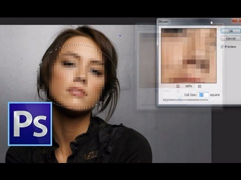 Adobe Photoshop CS6 : How To Blur Out A Face Or Object [ Less Than 1 Minute ]