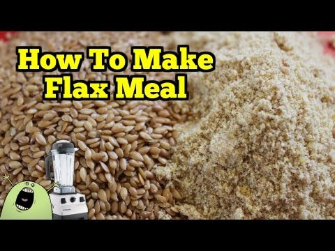 Make FLAX MEAL & FLAX FLOUR in the VitaMix Blender
