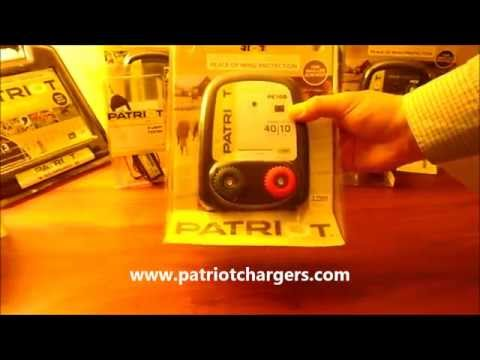 Patriot PE10B Battery Powered Electric Fence Charger Energizer 10miles /40 acres