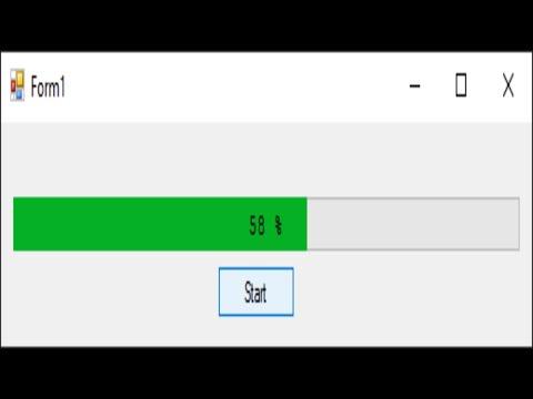 C# Tutorial - Custom Progress Bar with Percentage | FoxLearn
