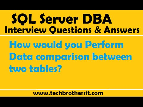 How would you Perform Data comparison between two tables  | SQL Server Interview