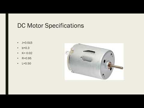 PID controller on a Permanent Magnet DC Motor.