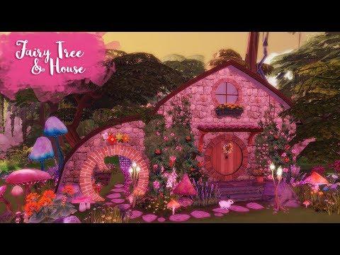 FAIRY TREE & HOUSE Sims 4 || Speed Build || Simsbiosis