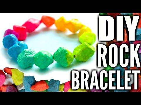 DIY RAINBOW ROCK BRACELET | How to Make a Paper Bead Bracelet