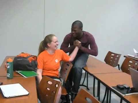Guy interrupts a girl's class to ask her to a Dance