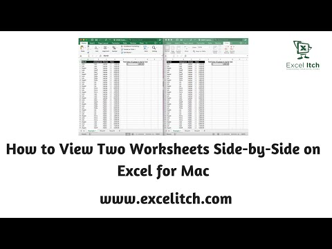 How to View Worksheets Side-by-Side on Excel for Mac