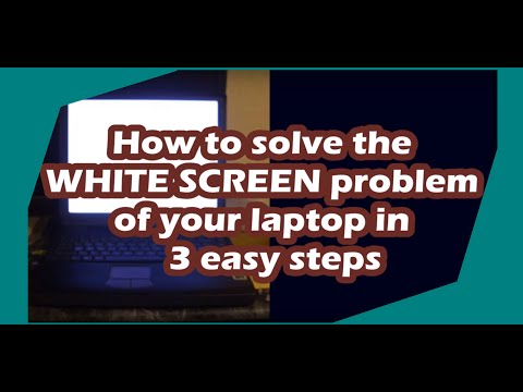 How to fix the WHITE SCREEN problem of your laptop in 3 easy steps. Sony, Acer, Dell