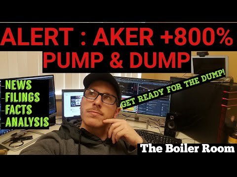 How To Find Penny Stock PUMP & DUMPS | Stock AKER +800%