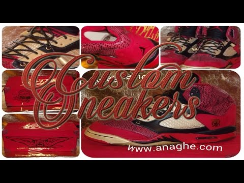 Custom Sneakers The Blood of a King 5's (HOW TO MAKE)