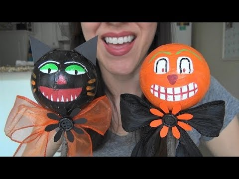 ASMR: Making Vintage-Style Halloween Noise Makers | Halloween Crafts | Holiday Crafts