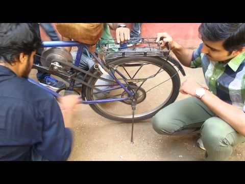 working of the flywheel bicycle!