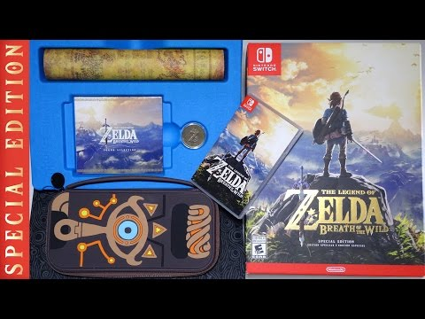 Unboxing SPECIAL EDITION The Legend of Zelda: Breath of the Wild Limited Nintendo Switch Box Set