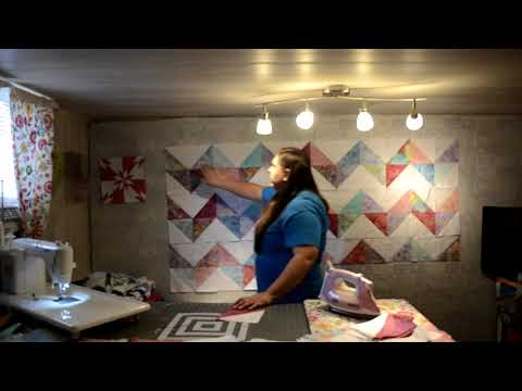 How to make the Chevron quilt