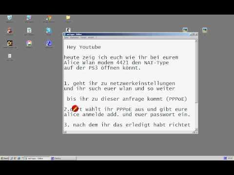 PS3 und XBOX NAT-Type ÖFFNEN Alice-Wlan (ALLE)