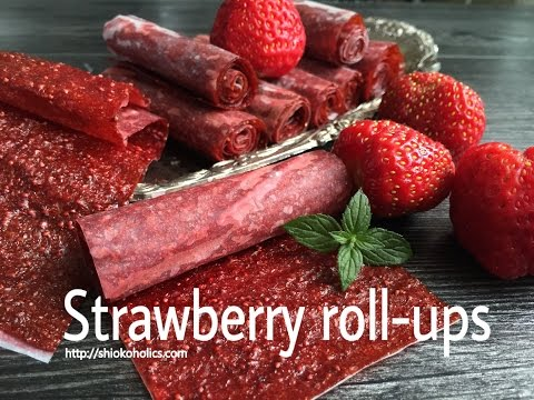 Homemde Strawberry fruit roll-up