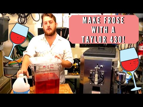 Making Frose Wine With a Taylor 430 Frozen Drink Machine
