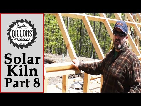 Solar Kiln Build Part 8 - Roof Blocking Supports