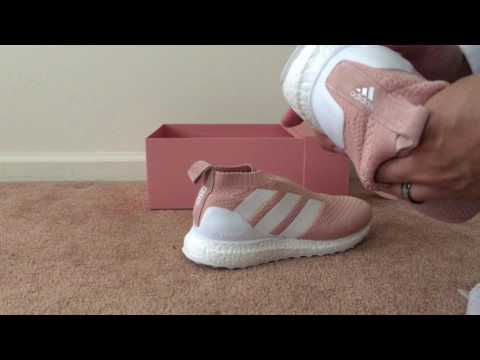 Up For Grabs Unboxing Kith x Adidas Ace 16+ UltraBOOST Pink Flamingo