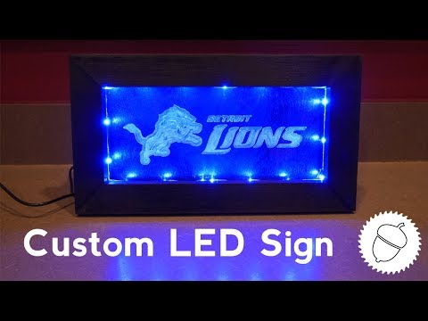 How to Make a Custom LED Sign | Detroit Lions Edition!