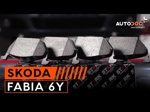 How to change a front brake pads SKODA FABIA 6Y TUTORIAL   AUTODOC