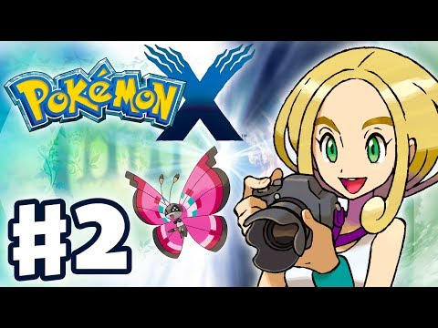 Pokemon X and Y - Gameplay Walkthrough Part 2 - Gym Leader Viola Battle (Nintendo 3DS)