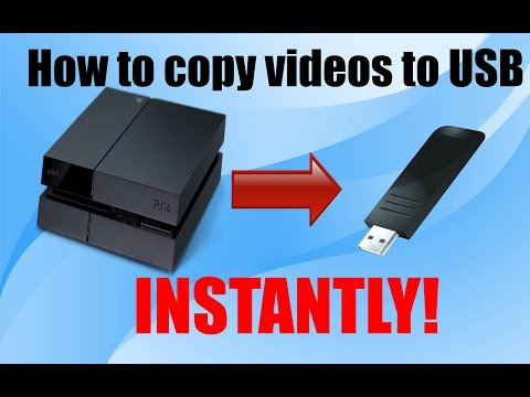 Playstation 4 Tutorial - How to copy videos from PS4 to USB drive INSTANTLY!