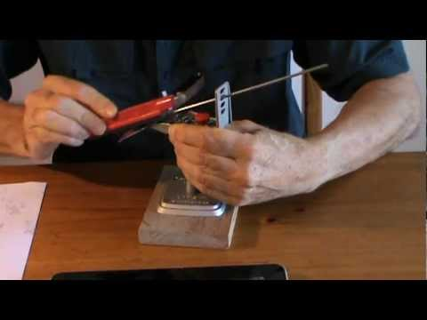 Sharpening a Knife From Dead Blunt to Razor Sharp in Under Five Minutes .MPG