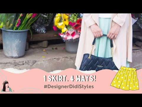 Styling a skirt in four ways! | With Love Inaaya