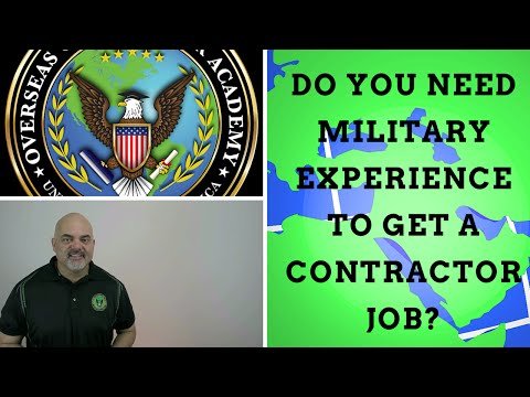 Do you need military experience to get defense contractor jobs?