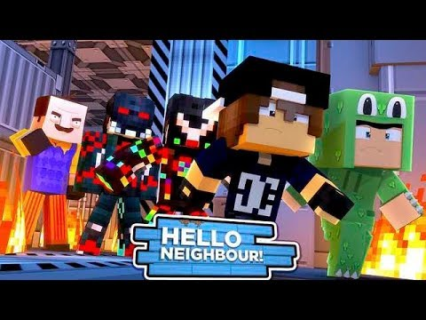 Minecraft Hello Neighbour The Neighbour Creates A Evil Robot - roblox videos poke bloxberg