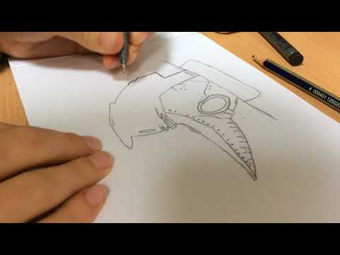 Drawing a Plague doctor