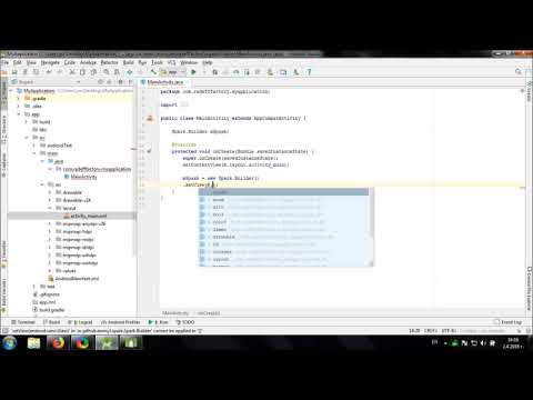 Using Spark library in Android Studio
