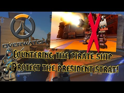 Overwatch Competitive - Countering The Pirate Ship / Protect the President Strat in Gold