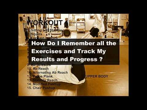 How to Remember All Your Exercises and Track Your Results and Progress