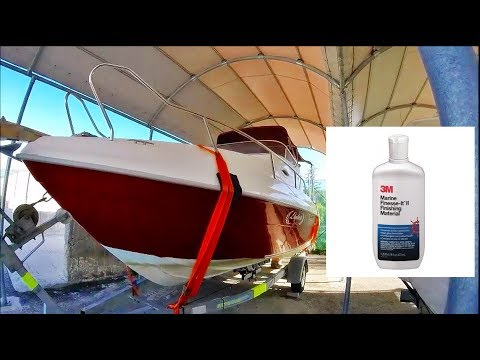 Boat Maintenance - Day 4 - Wax & Polish using 3M marine finesse-it ii