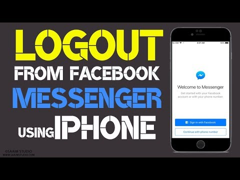 How to Logout from facebook messenger using your iphone?