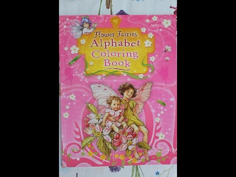 Flower Fairies - Alphabet coloring book - redrawn from Cicely Mary Barker's book
