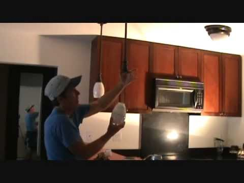 How to remove a pendant light fixture