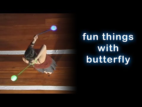 Beginner Poi Dancing Lesson: Fun things with Butterfly