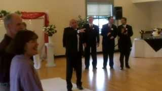 Bruno Mars song Marry Me SURPRISE ENTRANCE!! Wedding Ceremony Entrance lip synced by Groom.