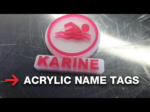 Custom Name Tags | TroGlass Acrylic | Laserable Material