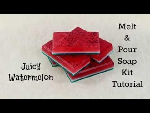 Juicy Watermelon Mini Tutorial - Melt & Pour Soap Kit
