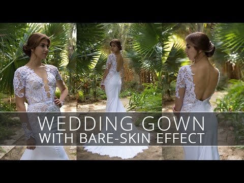 Wedding Gown with Bare-Skin Effect. How to make a naked dress?