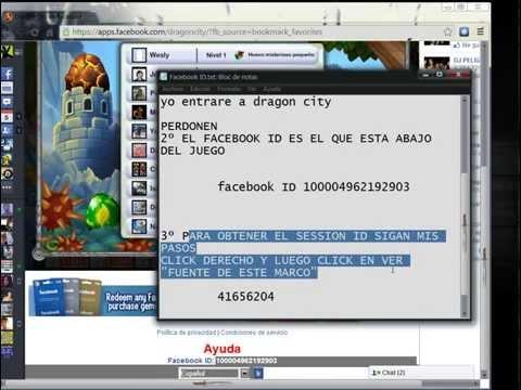 Como obtener facebook ID y session ID para Dragon city (Chrome)